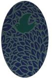 rug #641129 | oval blue animal rug