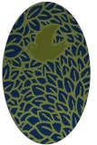rug #641133 | oval green animal rug
