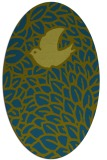 rug #641157 | oval green animal rug