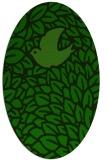 rug #641165   oval green animal rug