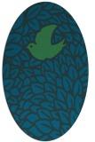 rug #641177 | oval blue animal rug