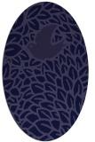 rug #641181 | oval blue-violet animal rug