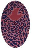 rug #641189 | oval blue-violet graphic rug