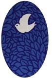 rug #641201 | oval blue-violet animal rug
