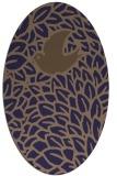 rug #641205 | oval blue-violet animal rug