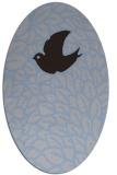 rug #641209 | oval blue-violet animal rug
