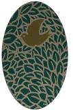 rug #641219 | oval graphic rug