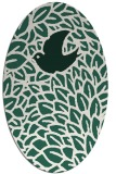 rug #641229 | oval green animal rug