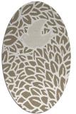 rug #641237 | oval mid-brown rug