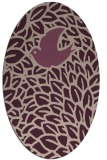 rug #641258 | oval graphic rug