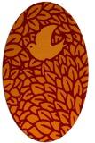 rug #641285 | oval red-orange animal rug
