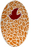 rug #641289   oval orange graphic rug