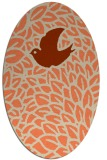 rug #641293   oval orange graphic rug