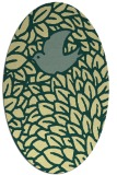 rug #641301 | oval yellow graphic rug