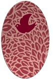 rug #641313 | oval pink rug