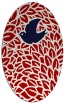 rug #641337 | oval red animal rug