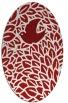 rug #641345   oval red animal rug
