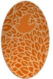 rug #641357 | oval red-orange animal rug