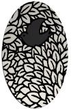 rug #641369 | oval white animal rug