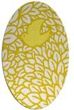 rug #641373 | oval white animal rug