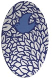 rug #641377 | oval white graphic rug