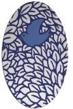 rug #641377 | oval white animal rug
