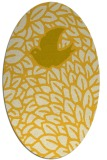 rug #641385 | oval yellow graphic rug