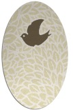 rug #641389 | oval white graphic rug