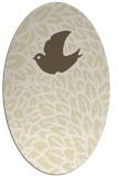 rug #641389 | oval white animal rug