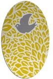 rug #641397 | oval yellow animal rug
