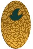 rug #641401 | oval light-orange graphic rug