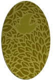 rug #641417 | oval light-green rug