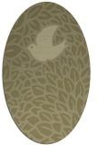 rug #641421   oval light-green animal rug