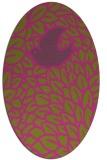 rug #641425 | oval light-green animal rug