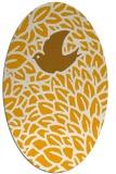 rug #641433 | oval light-orange animal rug