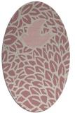 rug #641437   oval pink graphic rug