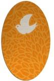 rug #641441 | oval light-orange animal rug