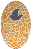 rug #641445 | oval white graphic rug