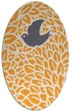 rug #641445 | oval light-orange animal rug