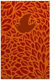 rug #641693 |  orange animal rug