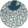 rug #641825 | round blue-green animal rug