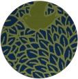 rug #641837 | round green graphic rug