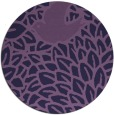 rug #641897   round purple animal rug