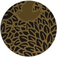rug #641917 | round mid-brown graphic rug