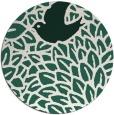 rug #641933 | round green animal rug