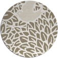 rug #641941 | round mid-brown rug