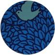 rug #641969   round blue rug