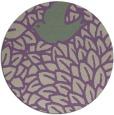 rug #641981 | round purple animal rug