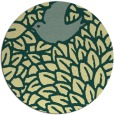 rug #642005 | round yellow graphic rug