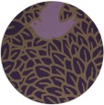 rug #642033 | round mid-brown graphic rug